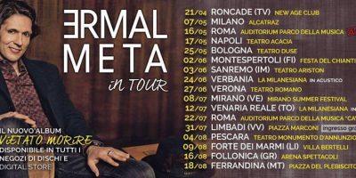 Annunciate le prime date del tour di Ermal Meta