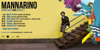 "Mannarino, le date dell'""Apriti Cielo Tour Estate 2017″"