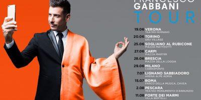 Tutte le date del tour di Francesco Gabbani