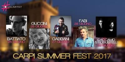 Ecco tutto il programma del CARPI SUMMER FEST 2017