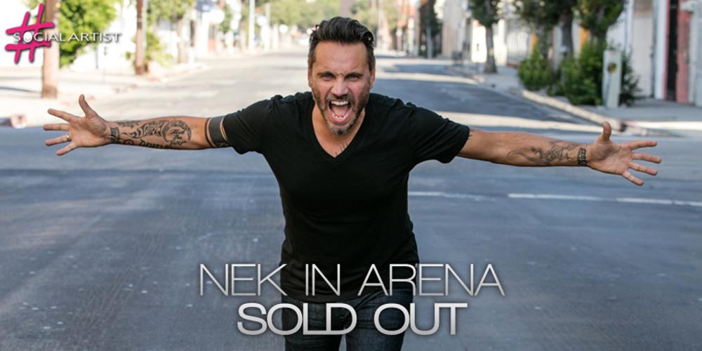 Nek annuncia il sold out del concerto evento Nek in Arena!