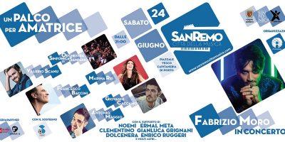 Fabrizio Moro in concerto a Sanremo il 24 giugno in occasione di Un Palco per Amatrice