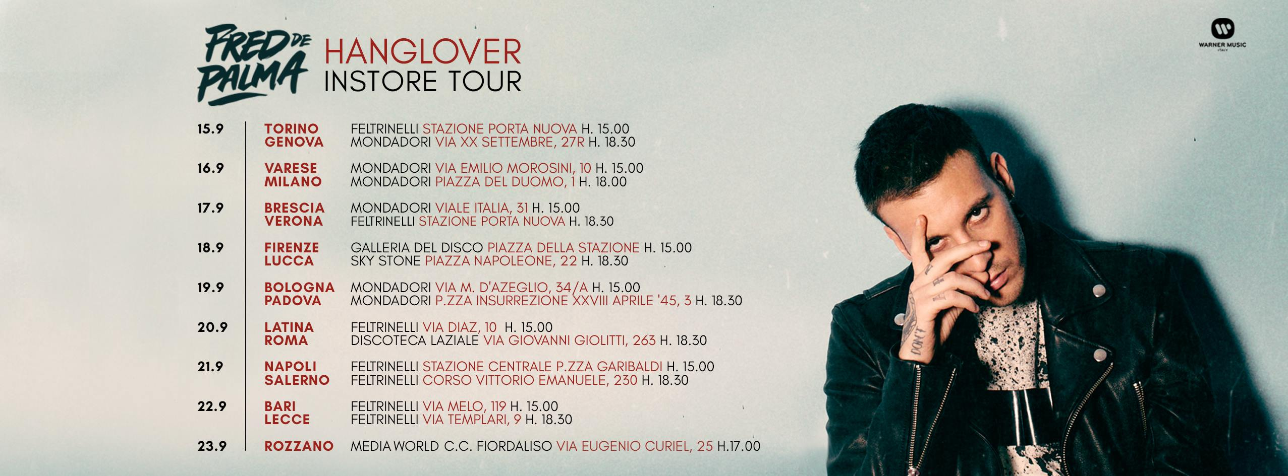 Instore Tour Hanglover Fred De Palma