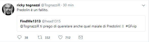 GF Vip Quinta Puntata Tognazzi Vs Predolin