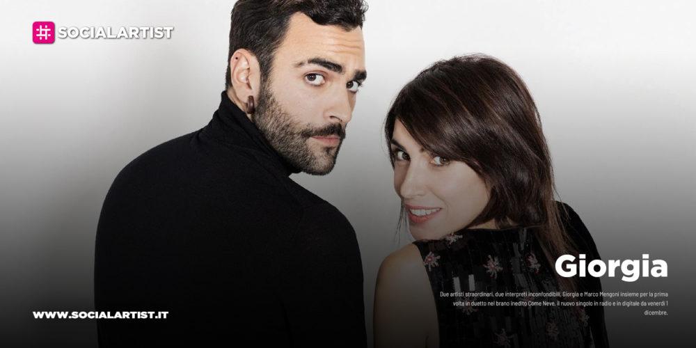 """Giorgia, dal 1 dicembre il nuovo singolo """"Come Neve"""" feat. Marco Mengoni"""