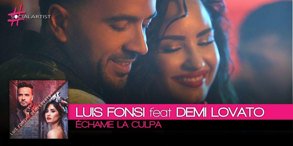 Luis Fonsi, dall'8 dicembre in radio il duetto con Demi Lovato, Échame la culpa