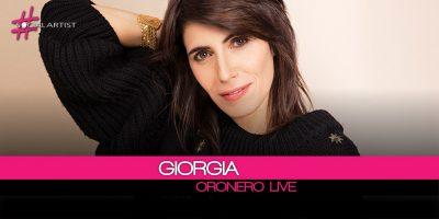 Giorgia, da venerdì l'album Oronero Live nei negozi