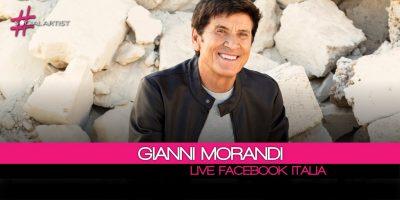 Gianni Morandi, in diretta dalla sede di Facebook Italia