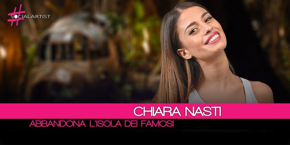 Chiara Nasti, a una settimana dall'inizio del gioco abbandona L'Isola Dei Famosi