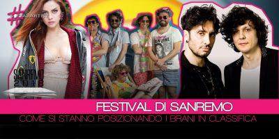 Festival di Sanremo, ecco come si posizionano i brani e i dischi sanremesi