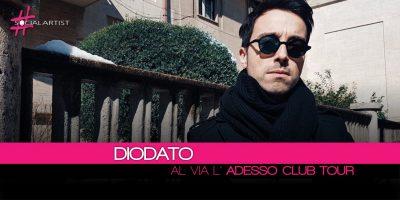 Diodato, dopo la recente partecipazione al Festival di Sanremo parte l'Adesso Club Tour