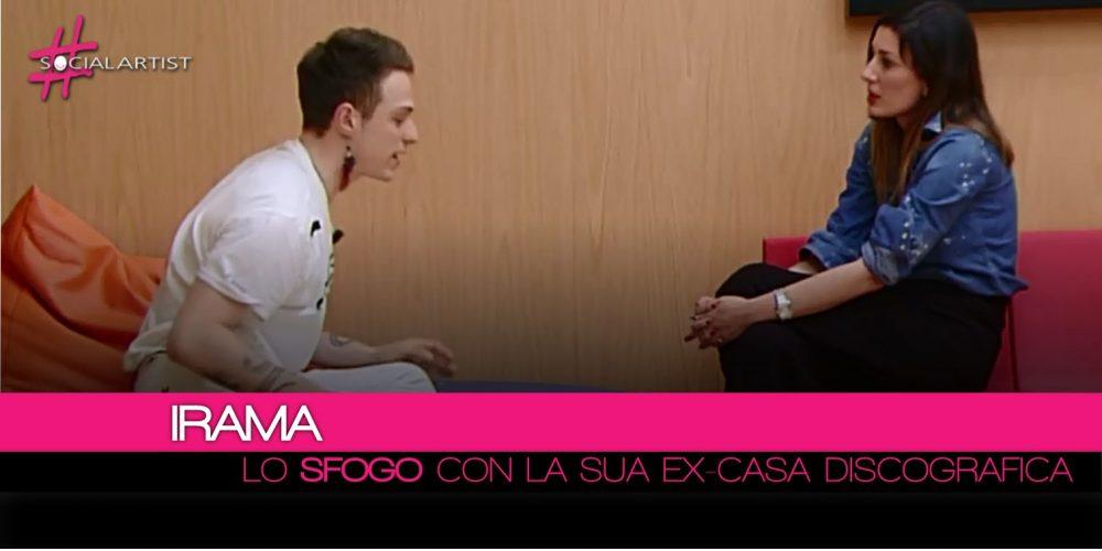 Amici 17, lo sfogo di Irama con la Warner Music Italy (Video)