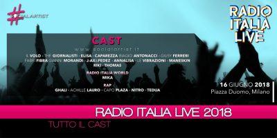 Radio Italia Live 2018, il cast dell'evento musicale in piazza più atteso dell'anno