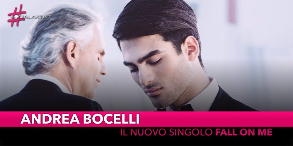 """Andrea Bocelli, dal 21 settembre il nuovo singolo """"Fall on Me"""" feat. Matteo Bocelli"""