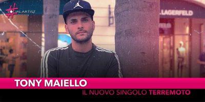 """Tony Maiello, il nuovo singolo si intitola """"Terremoto"""""""