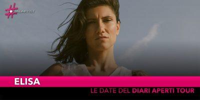 "Elisa, da marzo partirà il ""Diari Aperti Tour"" (DATE)"