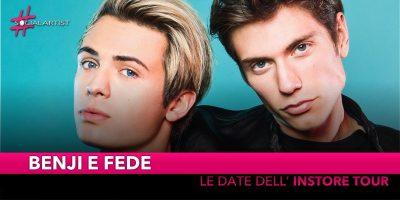 """Benji e Fede, dal 2 novembre parte il """"Siamo Solo Noise Limited Edition – Instore Tour"""" (DATE)"""