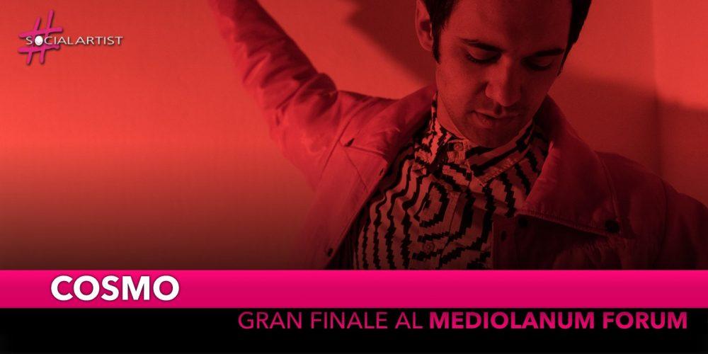 "Cosmo, gran finale del ""Cosmotronic Tour"" al Mediolanum Forum"