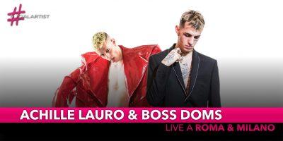 """Achille Lauro e Boss Doms, annunciano un concept show live """"La Morte Del Cigno"""""""