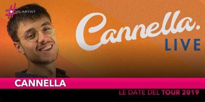 Cannella, le date del tour 2019 a Roma e Milano (DATE)