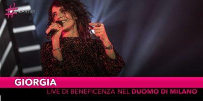 Giorgia, il concerto di beneficenza nel Duomo di Milano!