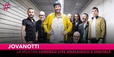 """Jovanotti, il 17 e 18 novembre apre la mostra """"Lorenzo Live Analogico e Digitale"""""""
