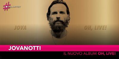 "Jovanotti, dal 30 novembre nei negozi ""Oh, live!"""