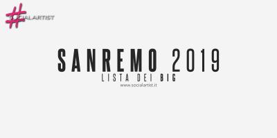 Festival di Sanremo 2019, tutti i big della 69° edizione