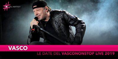 """Vasco, ecco le date del """"VASCONONSTOP LIVE 2019"""" (DATE)"""