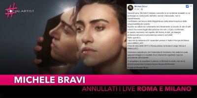Michele Bravi coinvolto in un incidente stradale, annullate le date live previste