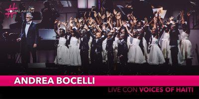 """Andrea Bocelli, live il 12 e 13 dicembre al Madison Square Garden con """"Voices of Haiti"""""""