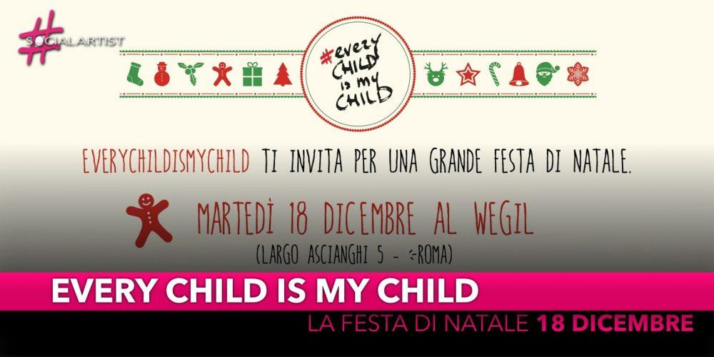 Every Child Is My Child, la festa di Natale il 18 dicembre