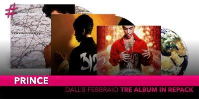 Prince, tre dei suoi album storici disponibili in CD e Vinile dall'8 febbraio