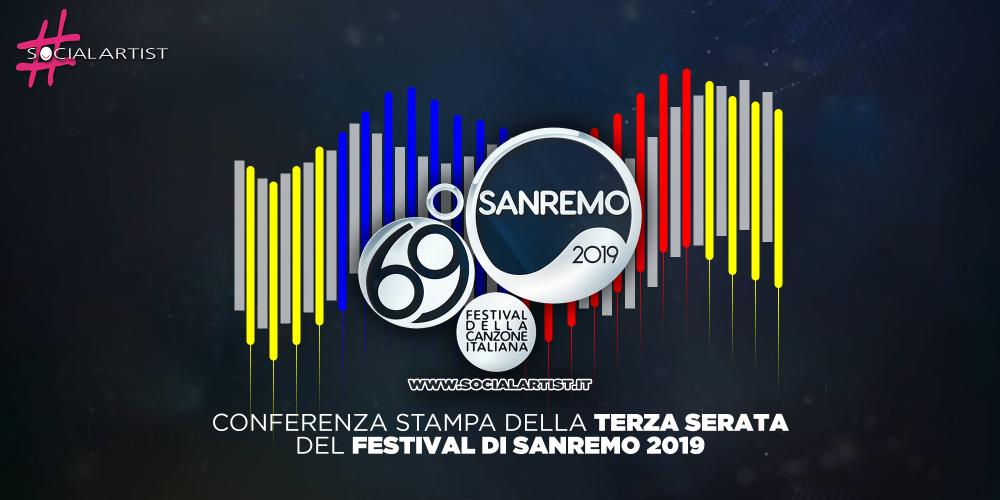 Sanremo 2019, la conferenza stampa della terza serata del Festival
