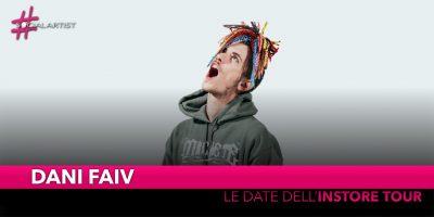 Dani Faiv, dal 18 gennaio partirà l'Instore Tour (DATE)