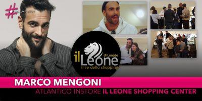"""Marco Mengoni, in 1500 per l'Atlantico Instore a """"Il Leone Shopping Center"""""""