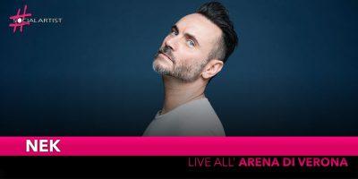 Nek, live all'Arena di Verona il prossimo 22 settembre!