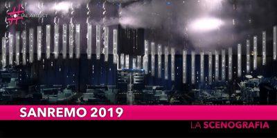 Sanremo 2019, la scenografia disegnata da Francesca Montinaro