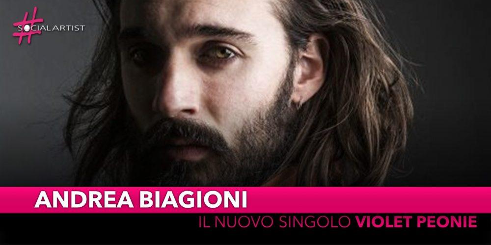 """Andrea Biagioni, e' online il videoclip di """"Violet Peonie"""""""