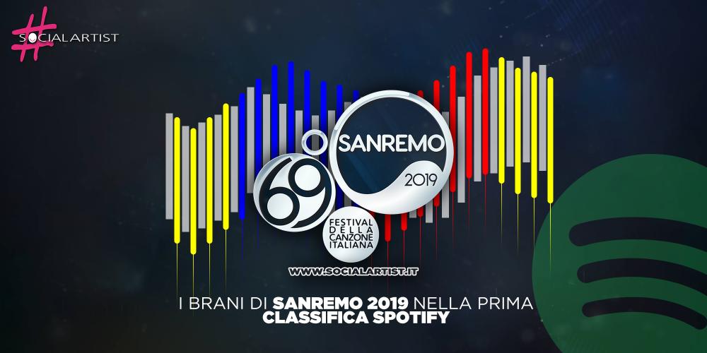 Sanremo 2019, le prime 24h dei brani sanremesi su Spotify!