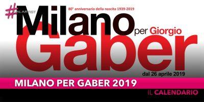 Milano per Gaber, il calendario della nuova edizione