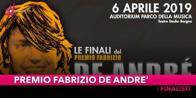 Premio Fabrizio De André, i finalisti della XVII edizione