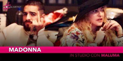 Madonna, in studio di registrazione con Maluma
