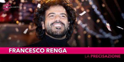 """Francesco Renga, arriva la precisazione in merito alla sua dichiarazione al """"Dopo Festival"""""""