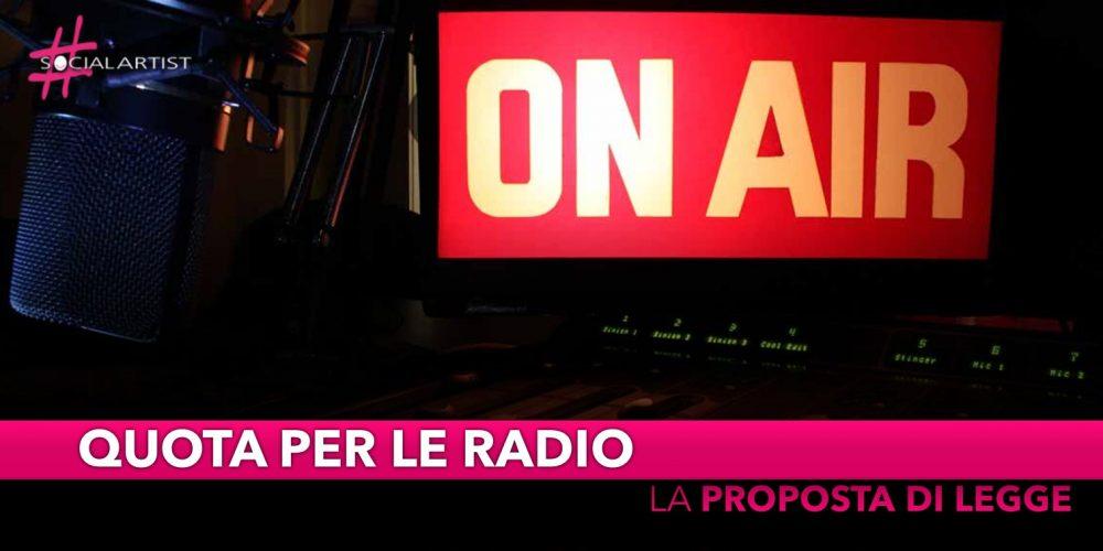"""Radio, proposta di legge """"in radio, una canzone ogni tre, deve essere italiana"""""""