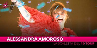 """Alessandra Amoroso, la scaletta del """"10 Tour 2019"""""""