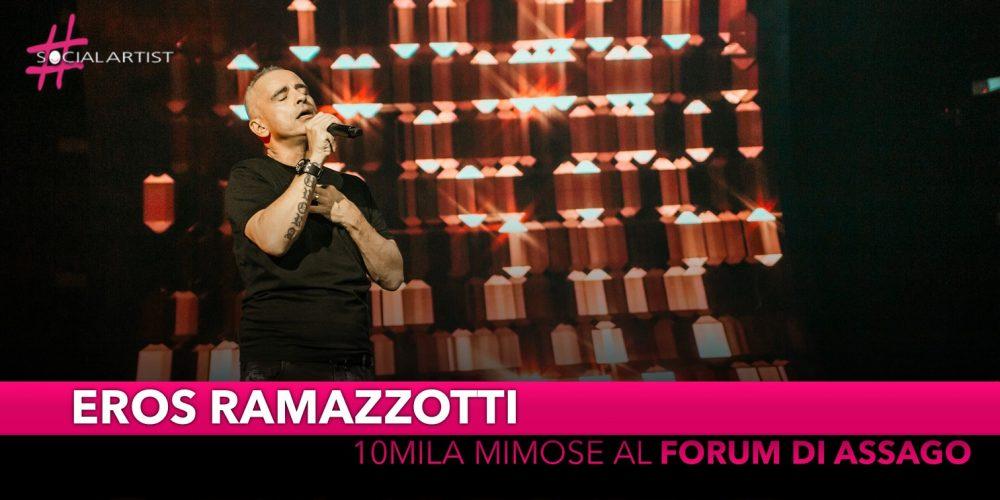 Eros Ramazzotti, 10 mila mimose al Forum di Assago!