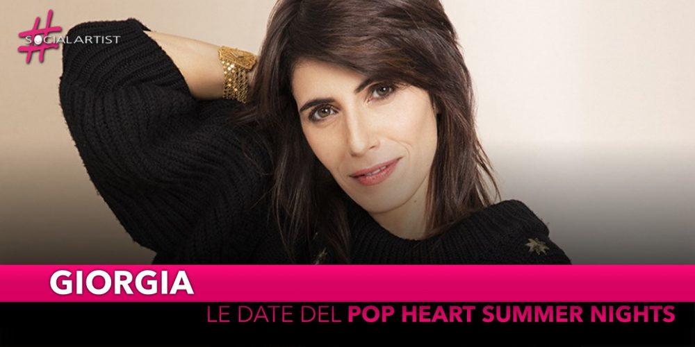 """Giorgia, annunciate le date del """"Pop Heart summer nights"""""""