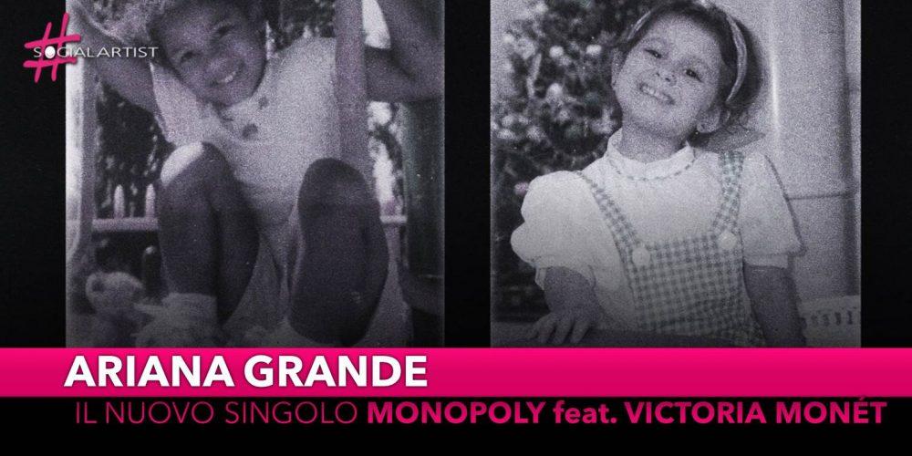 """Ariana Grande, dal 2 aprile il nuovo singolo """"Monopoly"""" feat. Victoria Monét"""