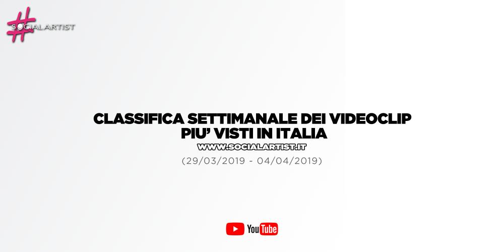 CLASSIFICA – I 50 videoclip più visti della settimana (29/03/2019 – 04/04/2019)